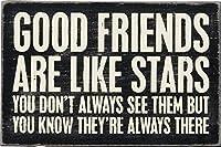 Good Friends Are Like Stars Wooden Postcard 4 Inch x 6 Inch [並行輸入品]