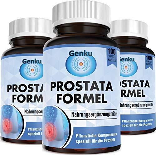 Genku´s Prostata PSA Formel Lycopin stärker als Sägepalme saw palmetto Pinien Kürbiskern Granatapfel Sparpack 3x100 Kapseln Tabletten