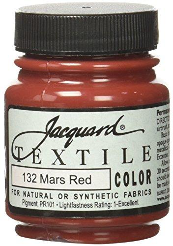 Jacquard Produits Mars Red-Textile Couleur Peinture, Acrylique, Multicolore