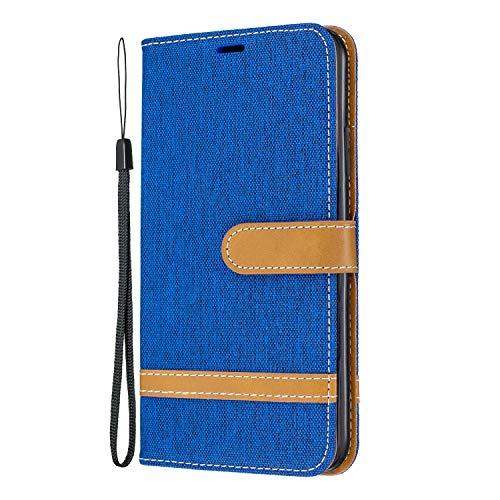 Lomogo iPhone 11 Pro Max Hülle Leder, Schutzhülle Brieftasche mit Kartenfach Klappbar Magnetisch Stoßfest Handyhülle Case für Apple iPhone 11 Pro Max - LOBFE020289 Saphir