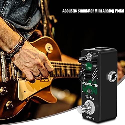 Vivlex LEF-320 Simulador de guitarra acústica pedal acustic guitar simulator AC stage para guitarra eléctrica 3 modos True Bypass