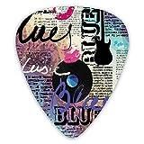 12 púas de guitarra, género antiguas guitarras eléctricas Kiss Colroful Premium ambientales ABS púas para guitarras