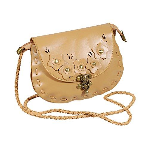 [Lovely Floral] Princesse en similicuir rétro Sac à main Sac à bandoulière sacoche sac à main
