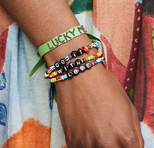 Kercisbeauty Regenboog armband met kralen doen het met liefde Thanksgiving dag geschenk haar vrouwen meisjes Unisex handketting stretch armband kerstcadeau set van 3