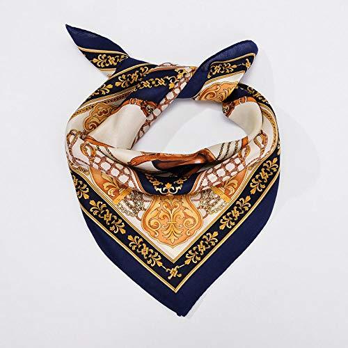 Sjaal van zijde, vierkante dames, zakdoek met paard, vintage, elegant temperament, eenvoudig vakantie, cadeau, ademend, dun