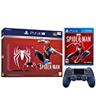 PlayStation 4 Pro Marvel\'s Spider-Man Limited Edition Amazing Red 1TB Console and Extra Midnight Blue Dualshock Wireless Controller Bundle(Versión EE.UU., importado)