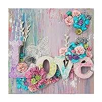 DIY 5Dダイヤモンド塗装キットアートクラフトフルドリルラインストーンクリスタル家の壁の装飾愛クロスステッチ刺繍モザイクキット