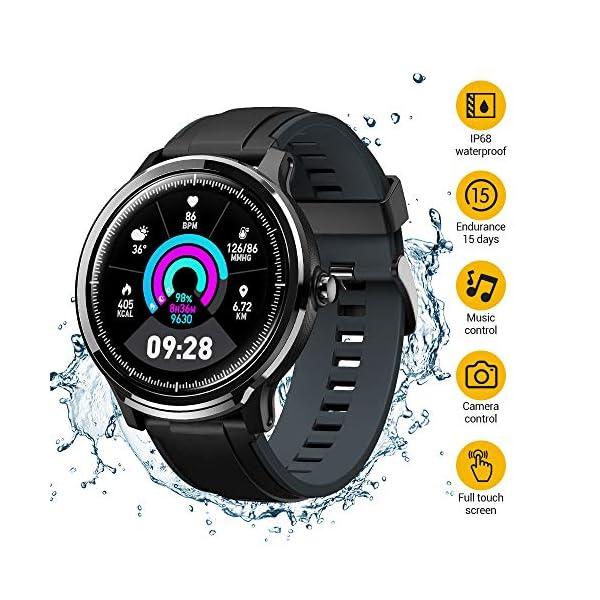 NACATIN SmartWatch, Reloj Inteligente Impermeable IP68, Bluetooth Relojes Deportivos Pantalla t¨¢ctil Completa, Pulsera… 1