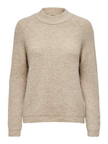 ONLY Damen ONLJADE L/S Box CC KNT Pullover, Grau (Whitecap Gray Whitecap Gray), 38 (Herstellergröße: M)