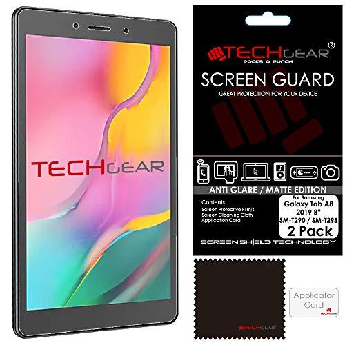 TECHGEAR [2 Stück] Galaxy Tab A8 2019 8.0 Zoll Matt displayfolie (SM-T290 /SM-T295) - Matte Anti Glare Blendschutz Schutzfolie Kompatibel mit Samsung Galaxy Tab A8 2019 (SM-T290 Serie)