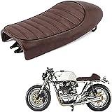 JFG RACING Cojín de asiento de motocicleta Joroba motocicleta Vintage Saddle Custom Cafe Racer para h.o.n.d.a CB350 CB400 CB450 CB500 CB550 CB750 (marrón)