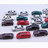 ZJIA Mini Model Painted Car 1:100 Scale Parking Scenery Street Layout (Pack of 50)