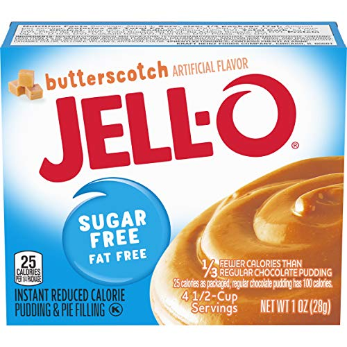 Jell-O Instant Butterscotch Sugar-Free Fat Free Pudding & Pie Filling (1 oz Boxes, Pack of 24)