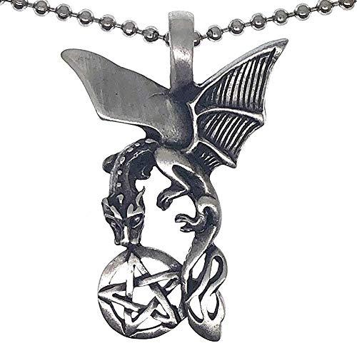 JSBVM Men's and Women's Classic Charm Gothic Punk Hip Hop Charm Necklace Simple Personality Pendant Star Pendant Necklace