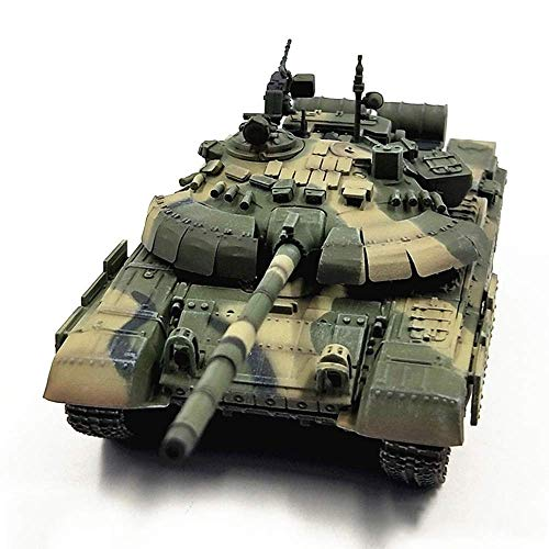 HSJWOSA Adorablemente 1:72 Modelo Militar, la Segunda Guerra Mundial Ruso T-72B2 Completado Modelo, Juguetes Compatible with niños (5.7Inchx 2.2inch) Exhaustivo
