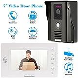 Intercom Video,KKmoon 7 Inch Video Door Phone Doorbell Video Entry System Intercom Kit with 1-Outdoor Camera...