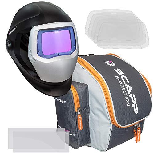 Speedglas 9100 XXI im SET, inkl. SCAPP Protection Rucksack, 5 äußeren und 2 inneren Vorsatzscheiben, Schweißhelm, Schweißmaske