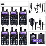 BaoFeng Radio UV-5R Ham Radio (6 Pack) + 1pcs TIDRADIO Driver Free Programming Cable + 6pcs TD-771...