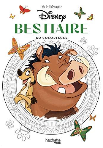 Les Petits blocs d'Art-thérapie Bestiaire Disney: 60 coloriages (Heroes)