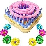 Juego de herramientas para tejer telares de flores, para hacer pompones, tejer telares y hacer lanas, tejer tejidos, hacer manualidades, bufandas, sombreros, etc.