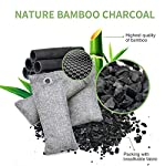 12 pack bamboo charcoal air purifying bag, activated charcoal bags odor absorber, moisture absorber, natural car air… 11 effectively odor absorber: our activated bamboo charcoal carbon adsorption capacity is three times than ordinary carbon, as we added a secondary high-temperature activation process , makes bamboo charcoal bags havehighspecificsurface areaandactivity to quickly eliminate the odor and excess moisture. Charcoal odor eliminator truly absorb bad odors naturally not covering the odor with additives works fast by more charcoal air purifying bag: according to the degree of smell, the amount of air freshener bags can be appropriately increased to speed up the adsorption rate and quickly eliminate odor and smoke. For example, the adsorption rate of 200 grams activated bamboo charcoal is four times faster than 50 grams. We have different packs of air purifying bags to meet all your needs for purifying multi size fit all space: we have three sizes of nature fresh air purifier bags can conveniently put in the place where the odor is and comprehensively remove the odor problem in your life. Perfect as shoe odor eliminator, car air purifier and basement odor eliminator. Meanwhile, the air purifying bag stop odor and damp by absorbing excess moisture, convenient natural odor eliminator for daily use to maintain a fresh environment