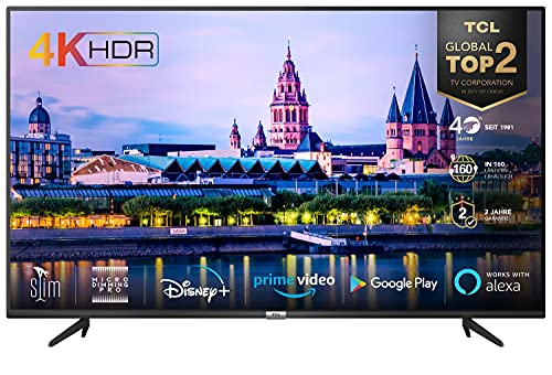 TCL 55BP615 LED Fernseher 55 Zoll (139cm) Smart TV (4K Ultra HD, HDR 10, Triple Tuner, Android TV, Micro Dimming PRO, Prime Video, Alexa und Google Assistant, Chromecast built-in) Schwarz