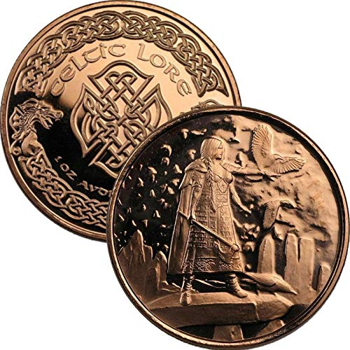 Jig Pro Shop Celtic Lore Series 1 oz .999 Pure Copper Round/Challenge Coin (The Morrigan)