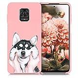 ZhuoFan Funda Xiaomi Redmi Note 9 Pro, Cárcasa Silicona Rosa con Dibujos Diseño Suave Gel TPU Antigolpes de Protector Piel Case Cover Fundas para Movil Redmi Note 9 Pro / 9S, Perro 01