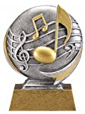 Music Motion Xtreme 3D Trophy - Music Teacher Award - 5 Inch Tall - Customize Now - Decade Awards