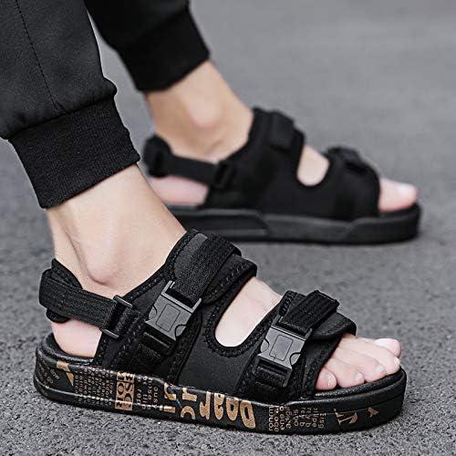 Shukun Tongs Hommes Sandales et Pantoufles pour Hommes d'été Word Pad Chaussures de Plage Sandales d'été pour Hommes