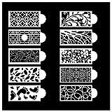 Lsydgn Plantilla Encaje Pastel Stencil para Decorar Tartas Adecuado para Todo Tipo de mousses, Tartas, Tartas de cumpleaños y Otros artículos Decorativos y es Ideal para los Lados de Tartas