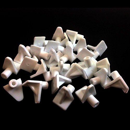 Lot de 48plastique blanc 5mm (M5) Étagère Support chevilles Cuisine IKEA Prise en