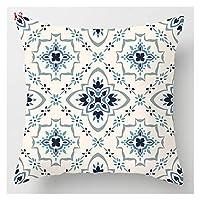 レイクブルー大理石の幾何学的ソファクッションカバー装飾枕カバーポリエステルスローピローケース家の装飾ピローカバー45 * 45cm (Color : 13)