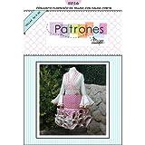 Patrón de costura conjunto flamenca mujer para hacerlo tú misma. Tutorial en vídeo para ayudarte a realizarlo. Talla 36 a la 50. Patrón multitalla en papel.