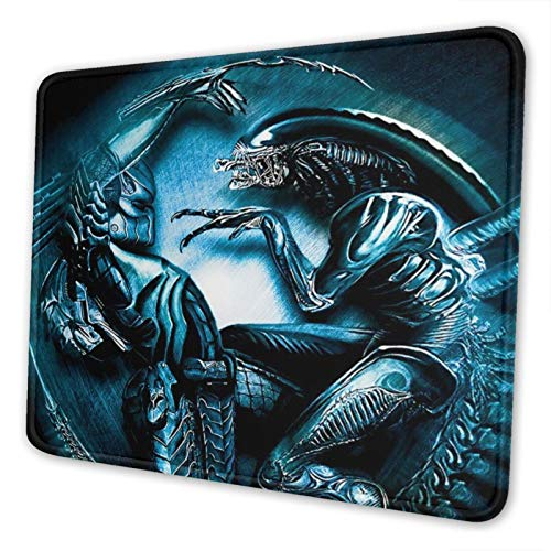 Alien VS Predator Mouse Pad Mat Gaming Unique Custom Mousepad, Computer Keyboard, Stitched Edges, Office Ideal for Desk Cover, Large Mouse Pats, Laptop and PC 7.9 x 9.5 in