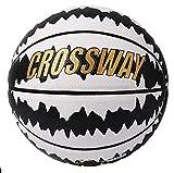 lcy Nr. 7 Straßenbasketball Indoor und Outdoor Geeignet für Training und Wettkampf Einkaufstasche und Pumpe/PU-Leder verschleißfest (Color : White and Black)
