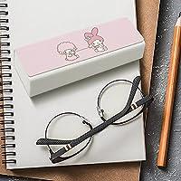 マイメロディ メガネケース レザー 眼鏡入れ マルチケース 眼鏡ケース EVISUK おしゃれ 軽量 収納保護 コンパクト おしゃれ キャラクター かわいい 大きいサイズ めがねケース
