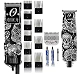 Oster Professional Classic 76 Professional USA Hair Clipper and T Finisher Trimmer Skulls w/ 10 Comb...