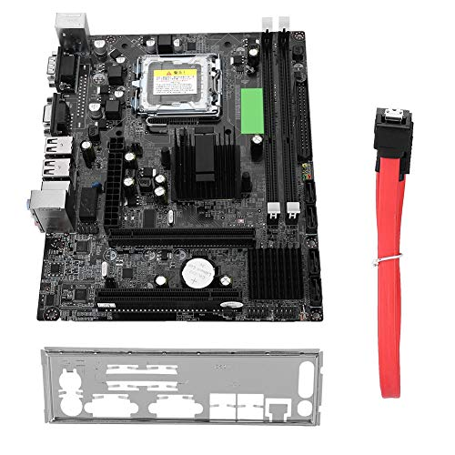Bewinner LGA 775 Motherboard,USB2.0 SATA Mainboard for Intel G41,Integrated Graphics,Sound Card and Network Card,Desktop PC Motherboard Support IDE Port,Small Size and Easy to Install