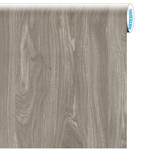 Artesive WD-061 Rovere Grigio larg. 60 cm AL METRO LINEARE - Pellicola Adesiva in vinile effetto legno per interni per rinnovare mobili, porte e oggetti di casa