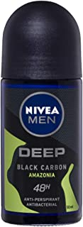 NIVEA MEN Deep Amazonia Roll On Anti-Perspirant Deodorant with Black Carbon, 50 ml