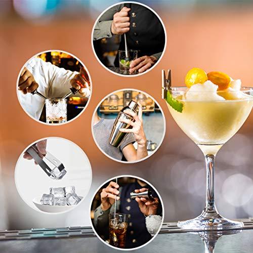 Hossejoy Hochwertiges Cocktailshaker Set,14 Teilig, mit Bambus-Aufbewahrung, inkl. Cocktail-Shaker, Doppeljigger, Messbecher, Bar Stößel, Bar Löffel, Ausgießer, Eiszange, Öffner, Hawthowe Strainer - 3
