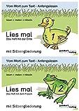 Lies mal - Hefte 1 und 2 (Paket) mit Silbengliederung: Vom Wort zum Text - Anfangslesen