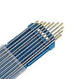 Forever Speed 10x Aguja de electrodo de tungsteno WL-15 2.4Ø x 175 mm Soldadura TIG WL-15...