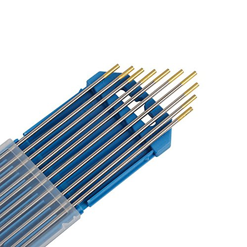 Forever Speed 10x Aguja de electrodo de tungsteno WL-15 2.4Ø x 175 mm Soldadura TIG WL-15 Oro 2.4Ø x 175 mm