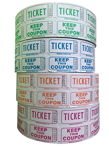 white 50 50 raffle tickets - 5