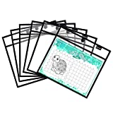 Magnetic Dry Erase Pockets by Two Point (6-Pack) - Plastic Sleeves | Teaching Supplies | Dry Erase Sheets | Dry Erase Sleeves | School Supplies for Teachers | Job Ticket Holders | Fridge Whiteboard