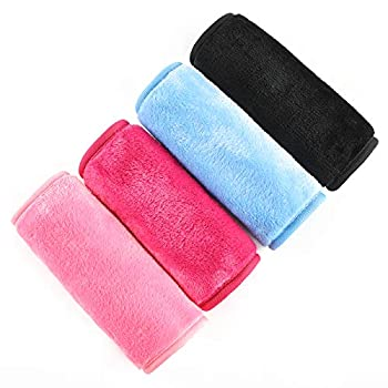 PRITE Makeup Remover Cloth,Reusable Facial Cleansing Towel,Suitable for All Skin Types Chemical Free,Remove Makeup Instantly with Water Satisfaction Guaranty,4 Pack