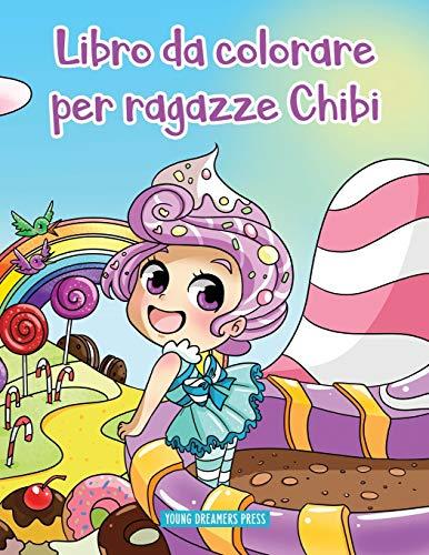 Libro da colorare per ragazze Chibi: Libro Anime da colorare per bambini di 6-8, 9-12 anni: 10