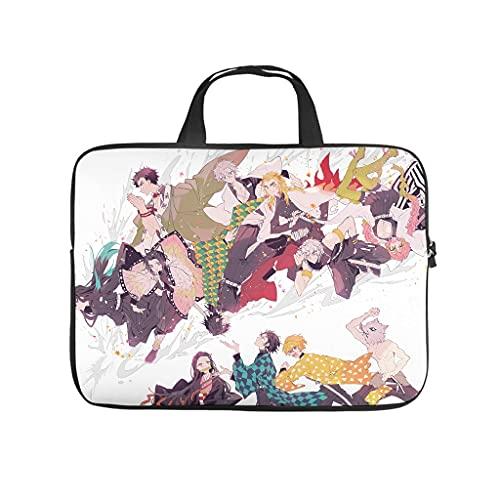 Facbalaign Maletín para portátil con diseño de anime Kimetsu de Yaiba